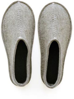 Warm felt slippers... mm...