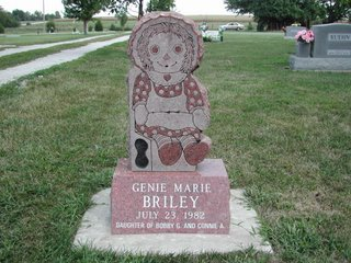 Raggedy Ann at Edgerton Cemetery