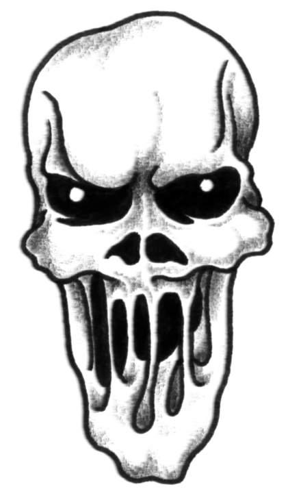 Slipknot et autre dessin d horreur - Tete de mort dessin facile ...