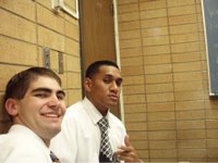 This is Alex and his companion, Elder Utai in the classroom.