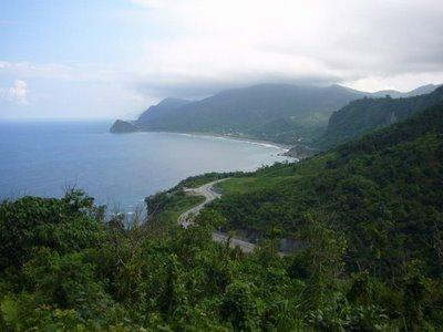 Le Pacifique vu de la montagne