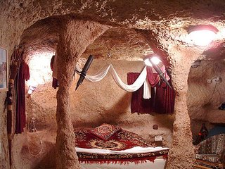 Cave House - Bed