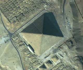 Aerial view of pyramid in Egypt
