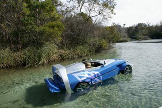 amphibious vehicle on water