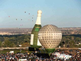Hot air balloon - bottle