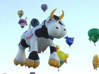 Hot air balloon - cow