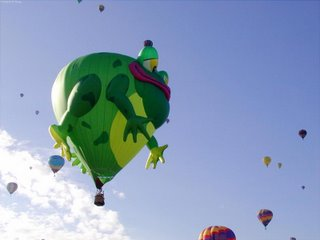 Hot air balloon - froggy
