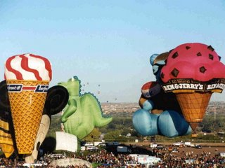 Hot air balloon - ice-cream