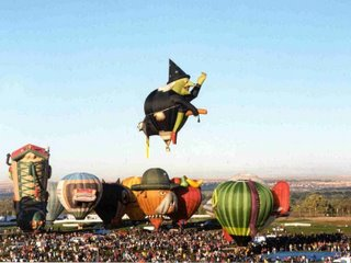 Hot air balloon - witch