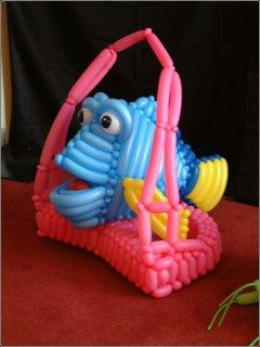 creative balloon art fish