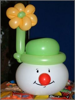 balloon twisting snowman