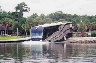 amazing amphibious bus