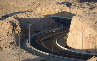 The mountain spans the border with Oman and lies about 90 minutes' drive southeast of the thriving city of Dubai.