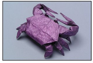 Origami - fresh water crab