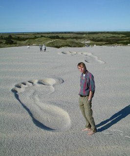 Giant foot print
