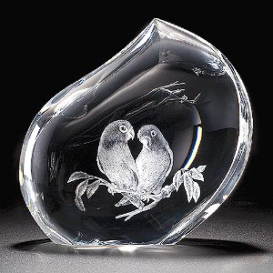 Glass art - birds