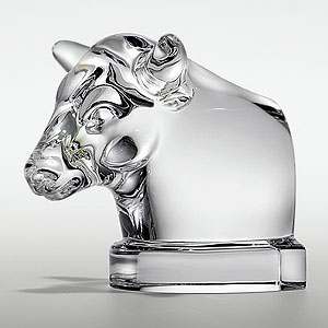 Glass art - cow