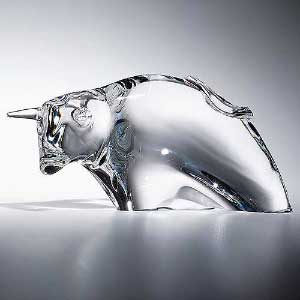 Glass art - cow with horn