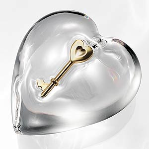 Glass art - key of heart