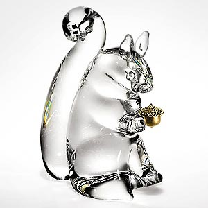 Glass art - squirrel