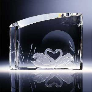 Glass art - Swan