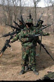army guns. hand gun