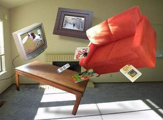 Art of Anti-Gravity - flying living room