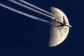 jet pass over moon