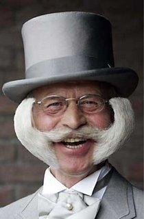 horned mustache