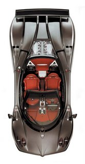 2007 Pagani Zonda Roadster F - up view
