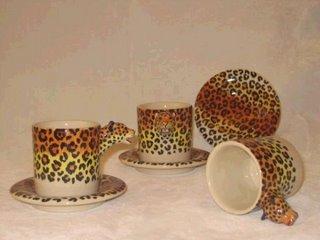 mug set cheetah engrave