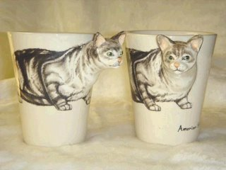 for cat lover painted ceramic mug
