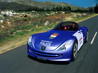 Highway Police use Peugeot