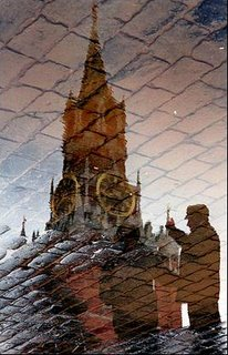 reflection of The Kremlin's Spassky Tower