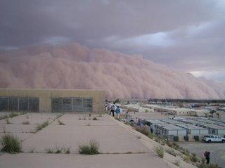 sandstorm starts to move