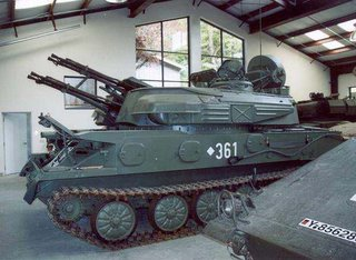 tank with cannons