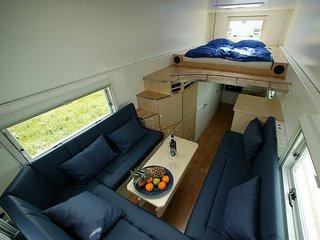 caravan's living room