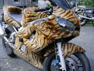 Tiger skin motorbike