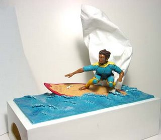 tissue box - surfer