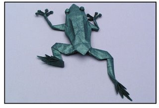 Origami - tree frog