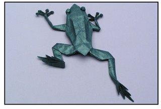 Origami - tree frog