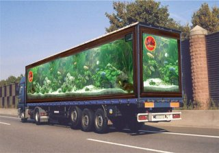 Truck Aquarium advertising
