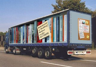 Truck books advertising