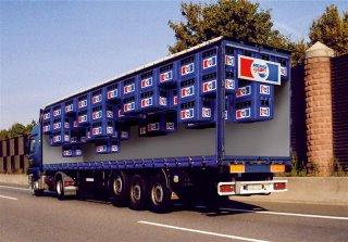 Truck Pepsi advertising