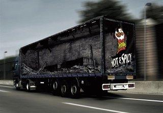 Truck Pringles advertising