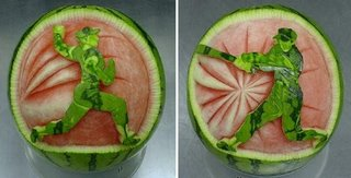 very creative watermelon art