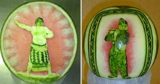 art of engraving watermelon