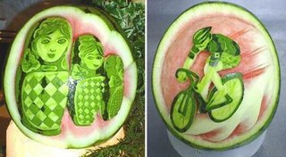 high patient need to complete this watermelon sculpture