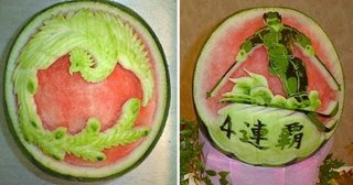 chinese decoration of watermelon