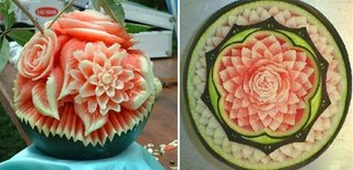 watermelon art. flower